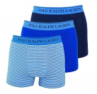 Ralph Lauren 3er Pack Boxershorts Trunks Spring1UDW NAVY/BLUE STRIPE/SAPPHIRE W18-US1