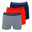 Ralph Lauren 3er Pack Boxershorts Trunks Spring1UDW RED/NAVY STRIPE/NAVY W18-US1