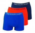 Ralph Lauren 3er Pack Boxershorts Trunks Spring1UDW NAVY/SAPPHIRE STAR/RED W18-US1
