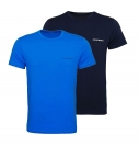 Emporio Armani 2er Pack T-Shirts Rundhals 111267 8P717 18735 MARINE/CIELO W18-EATS1