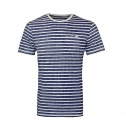 Tom Tailor Shirt T-Shirt Striped AOP tee 1055289.09.10 6800 W18-TTS1