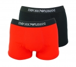 Emporio Armani 2er Pack Trunk Shorts 111613 8P722 40920 NERO/TANGO RED F18-EAT1