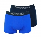 Emporio Armani 2er Pack Trunk Shorts 111613 8P722 50035 MARINE/ULTRAMARINE F18-EAT1