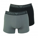 Emporio Armani 2er Pack Trunk Shorts 111769 8P720 41720 NERO/ANTRACITE F18-EAT1