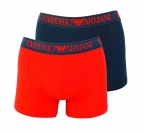 Emporio Armani 2er Pack Trunk Shorts 111769 8P720 46035 MARINE/TANGO RED F18-EAT1