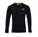 Superdry Longsleeve Orange Label VNTGE EMB Tee M60000NS Black F18-SDL1