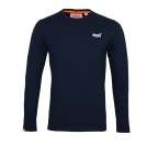 Superdry Longsleeve Orange Label VNTGE EMB Tee M60000NS1 Eclipse Navy F18-SDL1