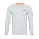 Superdry Longsleeve Orange Label VNTGE EMB Tee M60000NS1 Grey Marl F18-SDL1