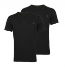 Replay 2er Pack T-Shirts V-Ausschnitt M3589 22602 020 black S18-RPT1