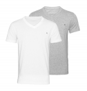 Replay 2er Pack T-Shirts V-Ausschnitt M3589 22602 050 GREY MELANGE, WHITE S18-RPT1