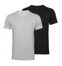 Replay 2er Pack T-Shirts V-Ausschnitt M3589 22602 060 GREY MELANGE, BLACK S18-RPT1
