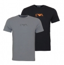 Emporio Armani 2er Pack T-Shirts Rundhals 111267 8A715 41720 NERO/ANTRACITE SH18-EAT1