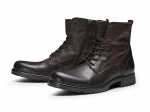 Jack & Jones Schuhe Boots Winterschuhe JFWORCA LEATHER BROWN STONE 12125319 SH18-JJB1