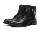 Jack & Jones Schuhe Boots Winterschuhe JFWALBANY LEATHER ANTHRACITE 12140935 SH18-JJB1