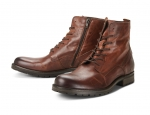 Jack & Jones Schuhe Boots Winterschuhe JFWORCA LEATHER BOOT COGNAC 12141008 SH18-JJB1