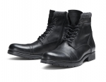 Jack & Jones Schuhe Boots Winterschuhe JFWMARLY LEATHER BLACK 12125322 SH18-JJB1