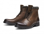 Jack & Jones Schuhe Boots Winterschuhe JFWMARLY LEATHER COGNAC 12125324 SH18-JJB1