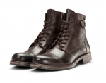 Jack & Jones Schuhe Boots Winterschuhe JFWSITI LEATHER BROWN STONE 12146690 SH18-JJB1
