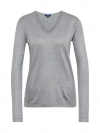 Tom Tailor Damen Basic Sweater V-Ausschnitt 3055423.09.70 2527 silver melange SH18-TTS1