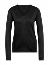 Tom Tailor Damen Basic Sweater V-Ausschnitt 3055423.09.70 2999 black SH18-TTS1