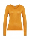 Tom Tailor Damen Basic Sweater V-Ausschnitt 3055423.09.70 3635 merigold yellow melange SH18-TTS1