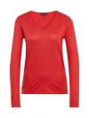 Tom Tailor Damen Basic Sweater V-Ausschnitt 3055423.09.70 4489 brilliant red SH18-TTS1