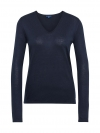 Tom Tailor Damen Basic Sweater V-Ausschnitt 3055423.09.70 6593 real navy blue SH18-TTS1