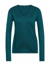 Tom Tailor Damen Basic Sweater V-Ausschnitt 3055423.09.70 7823 deep meadow green SH18-TTS1