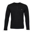 Emporio Armani Longsleeve Henley Sweater 111817 8A576 00020 NERO WX18-EAL