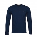 Emporio Armani Longsleeve Henley Sweater 111817 8A576 00135 MARINE WX18-EAL