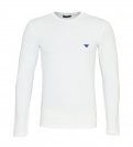 Emporio Armani Longsleeve Rundhals Shirt 111023 8A512 00010 BIANCO WX18-EAL