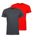 Emporio Armani 2er Pack T-Shirt Rundhals 111267 8A722 21544 ANTRACITE/RUBINO WX18-EAT