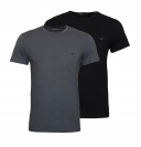 Emporio Armani 2er Pack T-Shirt Rundhals 111267 8A722 41720 NERO/ANTRACITE WX18-EAT