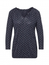 Tom Tailor Damen Bluse Crincle Shirt 1007952.xx.70 16449 navy W19-TTDB1