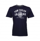 Tom Tailor T-Shirt Logo Tee 1008637.xx.10 10690 navy W19-TTS2