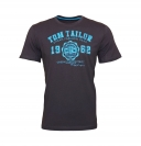 Tom Tailor T-Shirt Logo Tee 1008637.xx.10 10899 anthrazit W19-TTS2