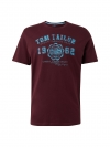 Tom Tailor T-Shirt mit Motiv 1008637.xx.10 10341 gipsy purple W19-TTS2