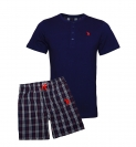 U.S. Polo ASSN. Shorty Pyjama Shirt + Hose 51036 51884 575 navy, blau SS19-USP1
