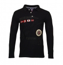 Geographical Norway Longsleeve Polo KOLIDAY Black SH19-GN1