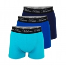 Pablo Malone 3er Pack Shorts Trunk navy, blue, turquoise SH19-PMT