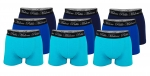 Pablo Malone 9er Pack Shorts Trunk navy, blue, turquoise SH19-PMT
