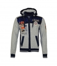 Geographical Norway Sweater Zipper Hoodie GEDAY WR529H Blended Grey HW19-GNG