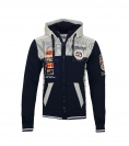 Geographical Norway Sweater Zipper Hoodie GEDAY WR529H Navy HW19-GNG