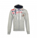 Geographical Norway FESPOTE Sweatjacke Hooded Zip Jacket B-Grey W20-GNF