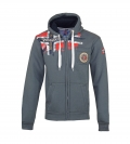 Geographical Norway FESPOTE Sweatjacke Hooded Zip Jacket Darkgrey W20-GNF