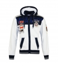 Geographical Norway GEDAY Sweatjacke Hooded Zip Jacket White Navy W20-GND