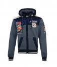 Geographical Norway GEDAY Sweatjacke Hooded Zip Jacket Darkgrey Navy W20-GND