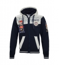 Geographical Norway GEDAY Sweatjacke Hooded Zip Jacket Navy B-Gray W20-GND