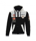 Geographical Norway GEDAY Sweatjacke Hooded Zip Jacket Black B-Gray W20-GND