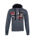 Geographical Norway GETCHUP Sweatjacke Hooded Zip Jacket Darkgrey W20-GNC